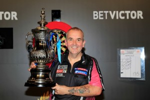 BET VICTOR WORLD MATCHPLAY 2013WINTER GARDENS,BLACKPOOLPIC;LAWRENCE LUSTIGFINALPHIL TAYLOR V ADRIAN LEWISPHIL TAYLOR WINS